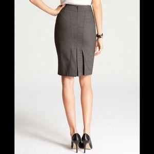 Ann Taylor Back Pleated Pencil Skirt